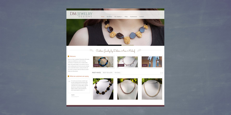 DM Jewelry Designs Website Boom Creative
