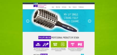 Phillips Brush Website Gets a Makeover